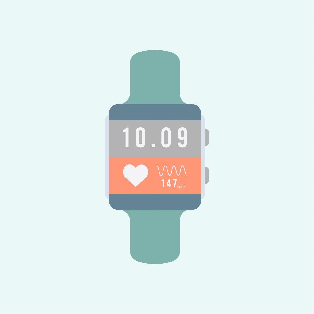 Reloj inteligente con hora y pulso